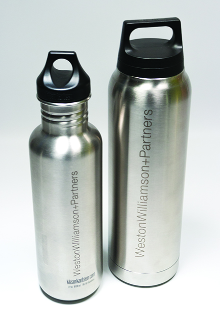 Etched metal flask