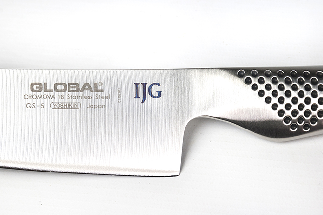 Engraved chef knife