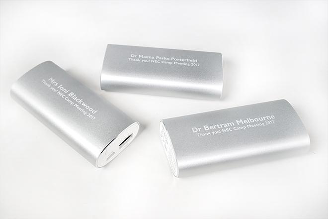 engraved power bank