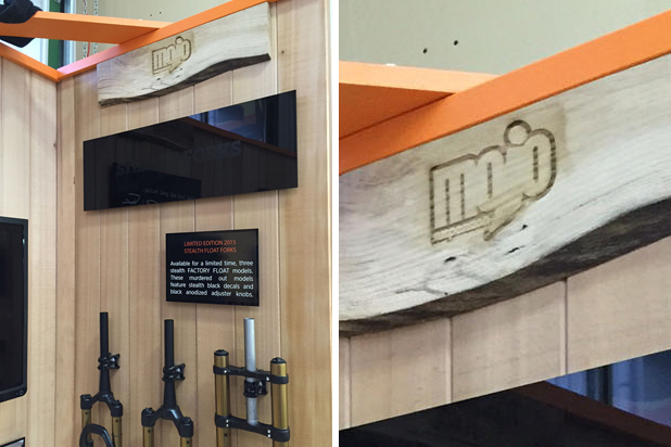 Bespoke Laser UK Wales Blog Wooden Exhibition Signage Mojo Suspension Inside 2