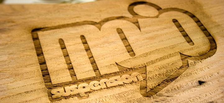 Bespoke Laser UK Wales Blog Wooden Exhibition Signage Mojo Suspension Thumbnail
