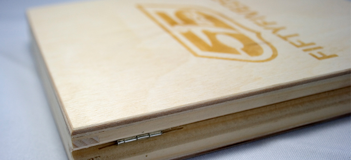 Bespoke Laser UK Wooden DVD Case 55DSL