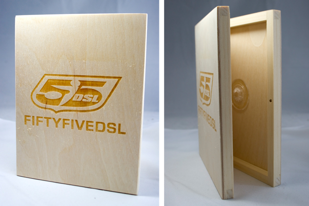 Bespoke Laser UK Wooden DVD Case Diesel 55DSL