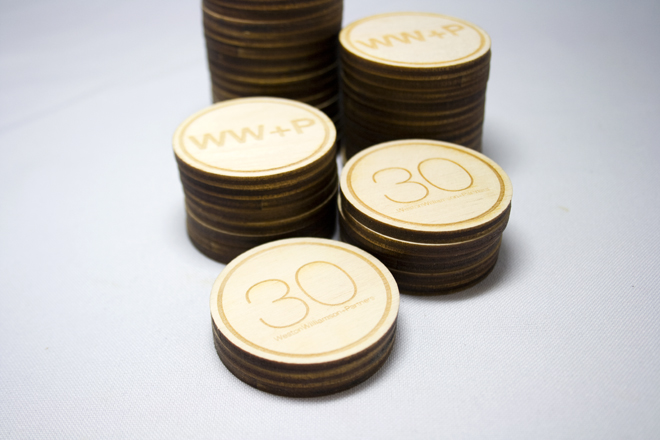 Bespoke Laser UK Engraved Poker Chips Wooden WestonWilliamson + Partners