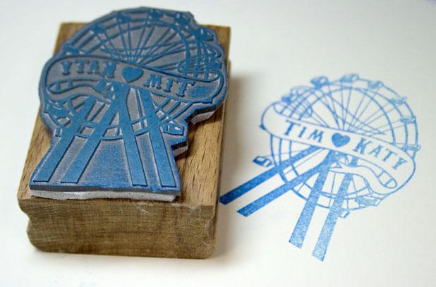 Personalised Ferris Wheel Rubber Stamp