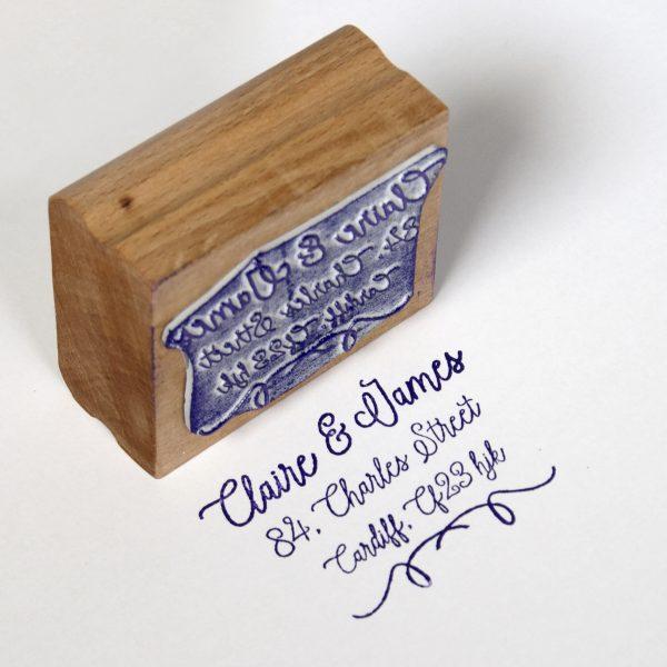Custom Address Rubber Stamp