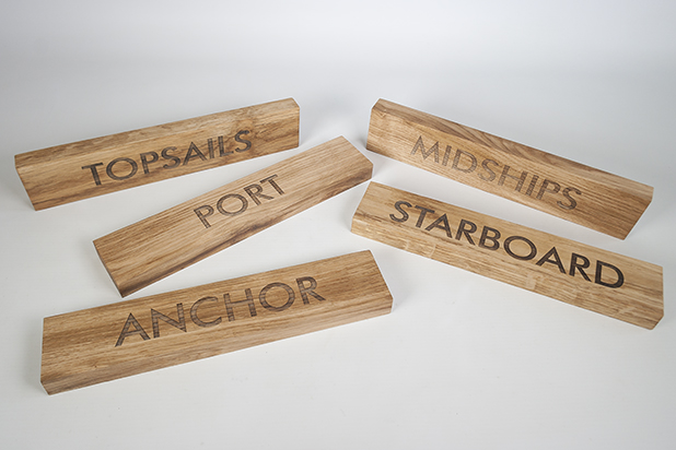 wooden hotel signage