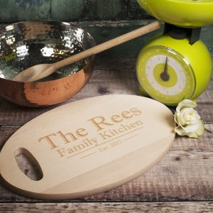 Personalised oval chopping board