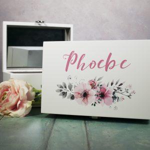 Personalised printed jewellery box