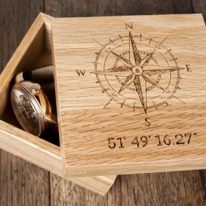 engraved oak presentation box
