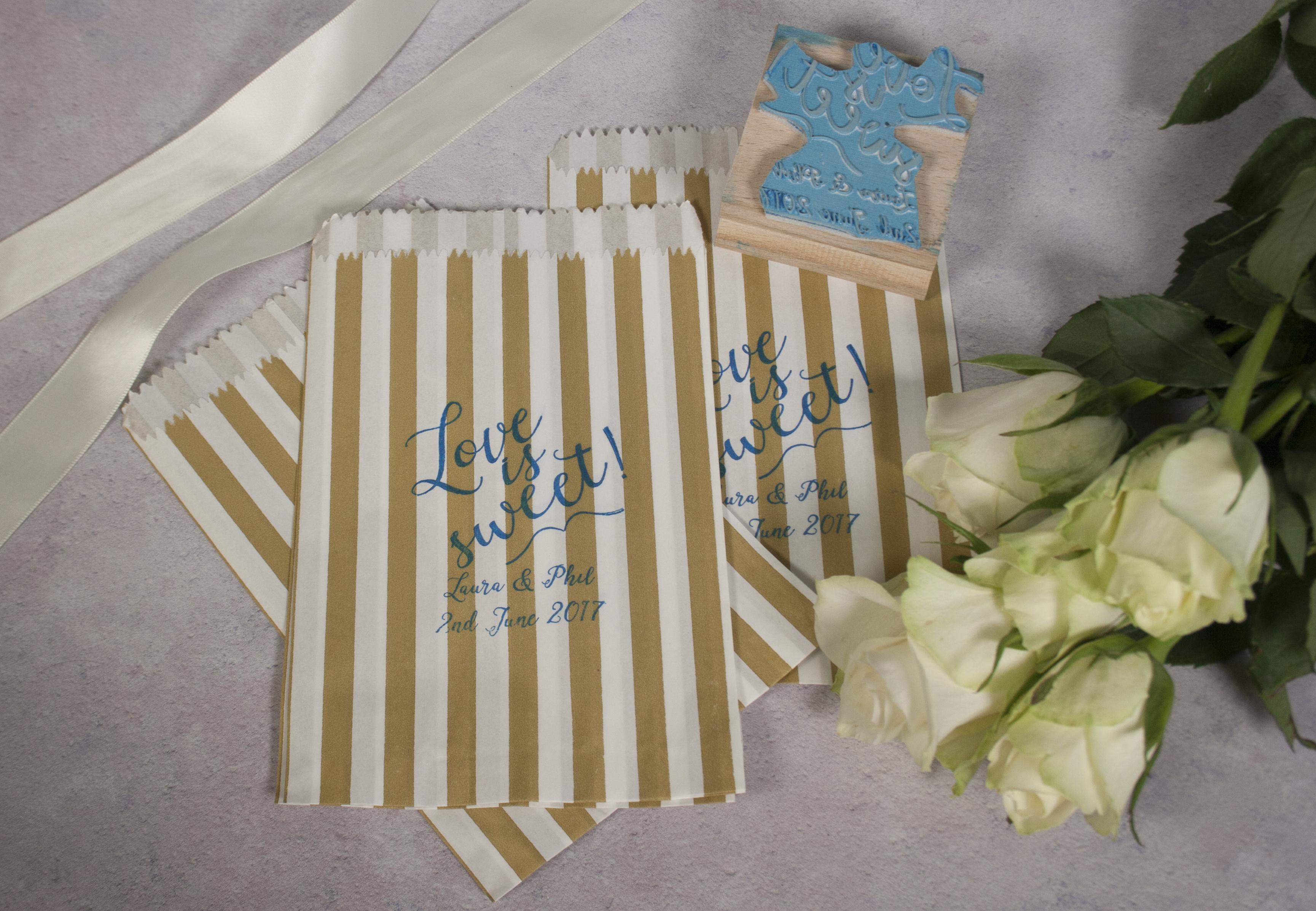 94219faadb5e5 Love is Sweet - personalised stamp