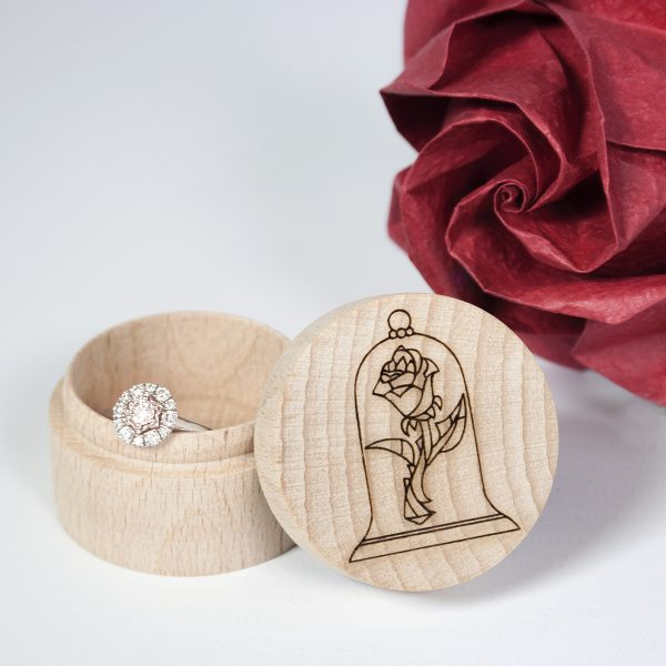 beauty and the beast inspired ring box
