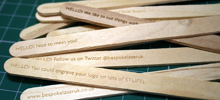Bespoke Laser UK Wales Blog Engraved Lolly Sticks Summer Laser Cutting Main Thumbnail