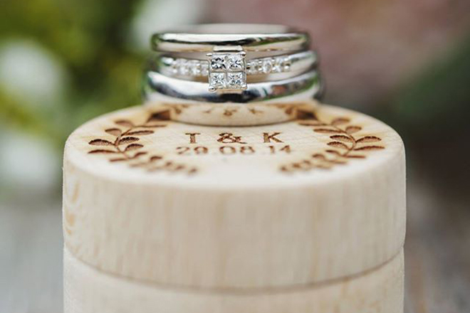 Bespoke Laser UK Wales Weddings Personalised Ring Box 3