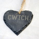 Bespoke Laser UK Wales Weddings Engraved Welsh Slate Hearts 1