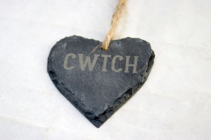 Bespoke Laser UK Wales Weddings Engraved Welsh Slate Hearts 1