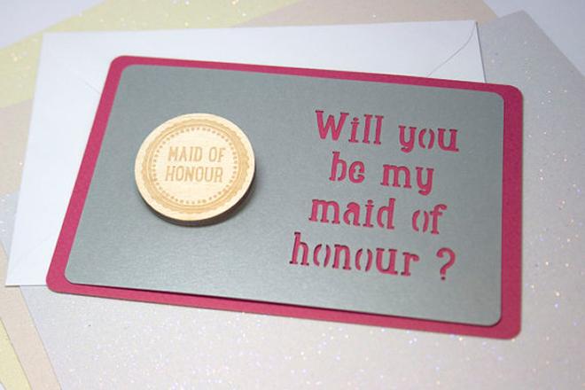 Bespoke Laser UK Wales Weddings Engraved Wooden Badges 2
