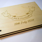 Bespoke Laser UK Wales Weddings Engraved Wooden Guest Book 1