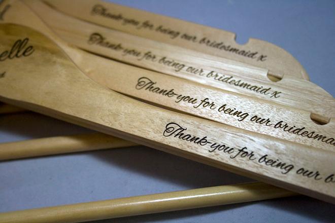 bespoke laser uk personalised engraved hanger Engraved Wedding Hangers Uk bespoke laser uk wales weddings personalised wooden hangers 3 engraved wedding hangers uk