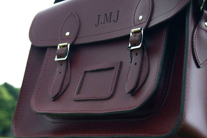 Bespoke Laser UK Wales Engraving Leather 2