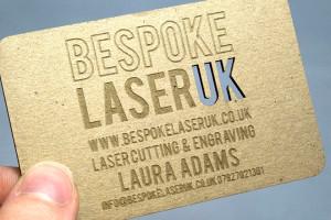 Bespoke Laser UK Wales Etching Card